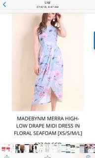 Neonmello Brand new Merra drape Hi Lo Floral dress