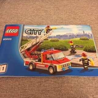 全新Lego 消防車