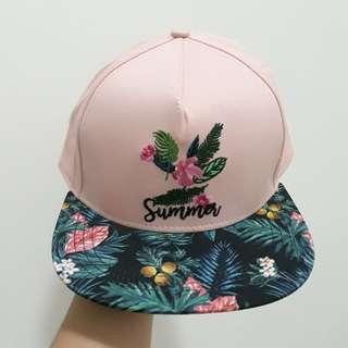 Pink Summer Green Leaves Hat / Cap Miniso