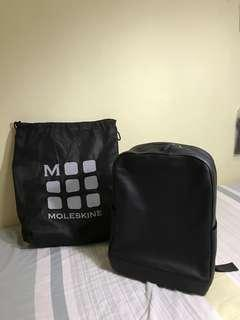 **Negotiable** Brand New! Moleskin Classic Leather Backpack, Black