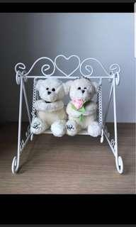 Love and Co Swing Bear deco or Ring holder/ pillow