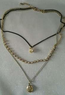 JC 3toned locket necklace