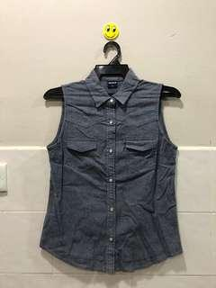 Uniqlo ladies denim sleeveless