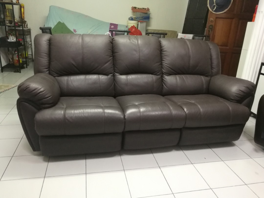 Free Delivery 3 Seater Recliner Leather Sofa Furniture Sofas