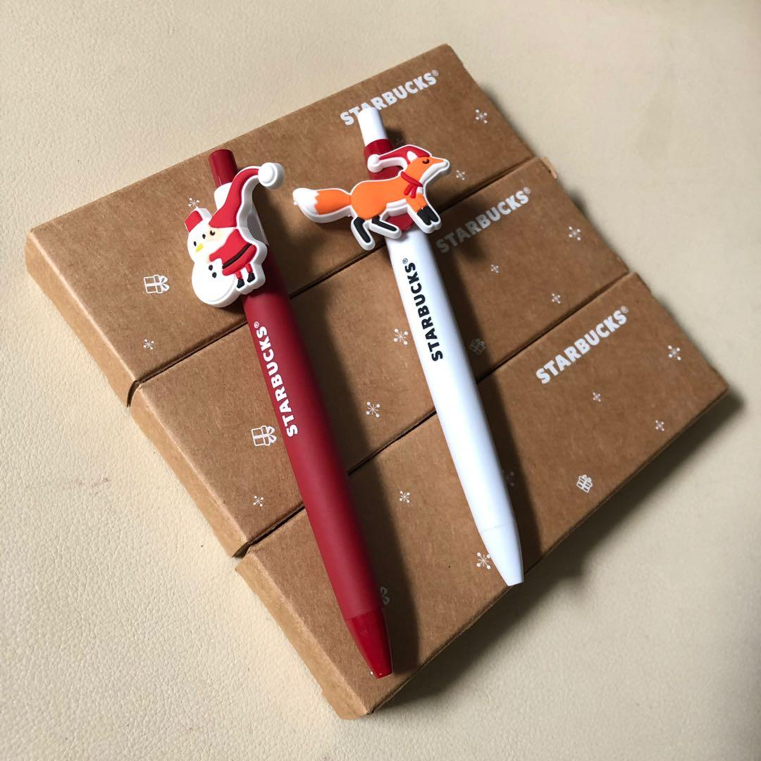 [全新原裝連盒] Starbucks聖誕原子筆 一套兩支