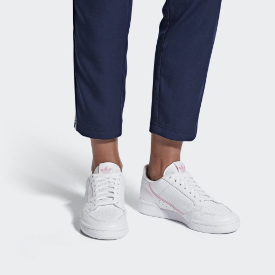 ADIDAS CONTINENTAL 80 WOMEN S - FTWR WHITE TRUE PINK CLEAR PINK ... 4a4641297