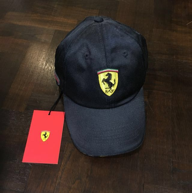9c3022b2dba18a AUTHENTIC Ferrari Blue Roma Cap BNWT, Men's Fashion, Accessories ...
