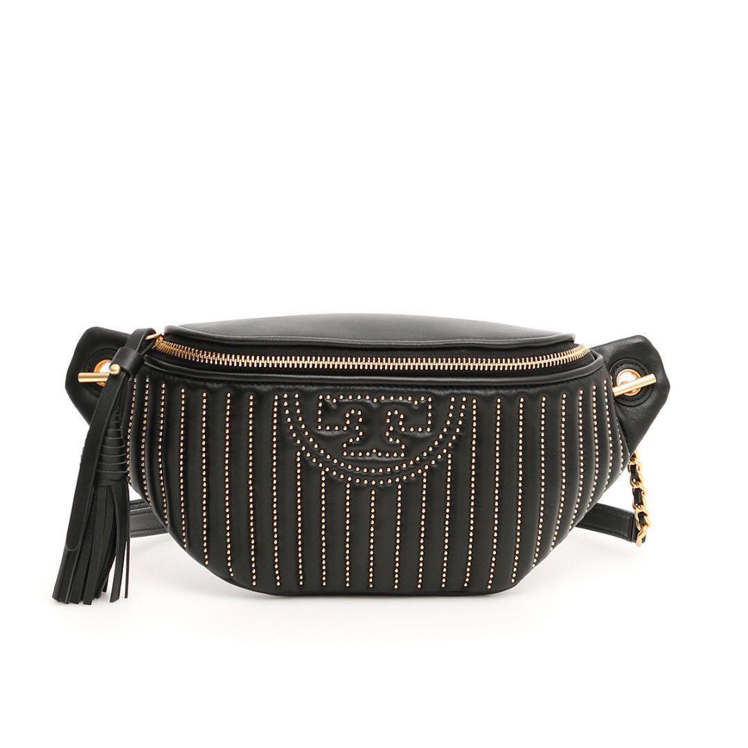 af0e336db4c Authentic Tory Burch 54593 Fleming Studded Belt Bag Waist Pouch ...