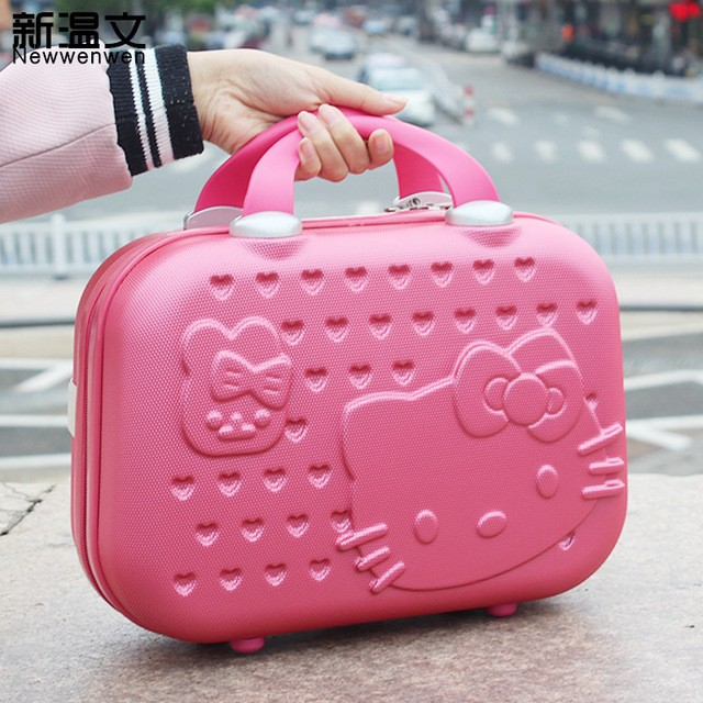 9f9dfd078 BN hello kitty pink small luggage makeup case, Women's Fashion, Bags &  Wallets, Others on Carousell
