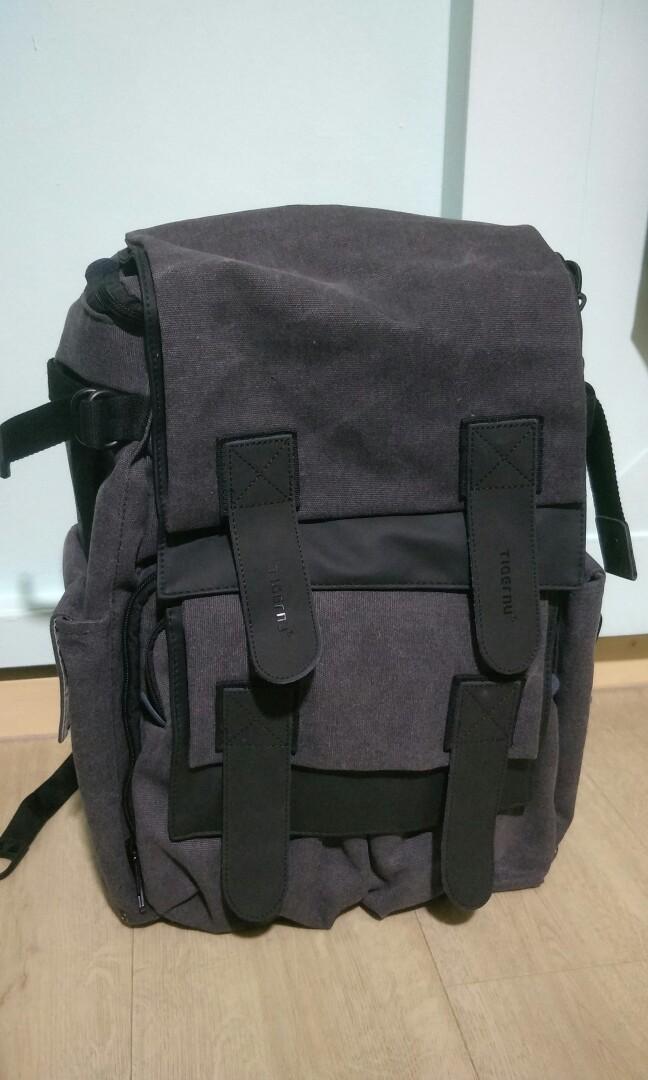 Brand New  Tigernu T-X6008 (DSLR Backpack-Black Grey) d74130f903ac5