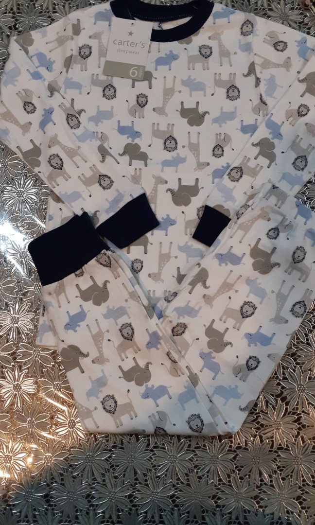 a68d458c5 Carters 100% cotton zoo animals pajamas 6t, Babies & Kids, Boys ...
