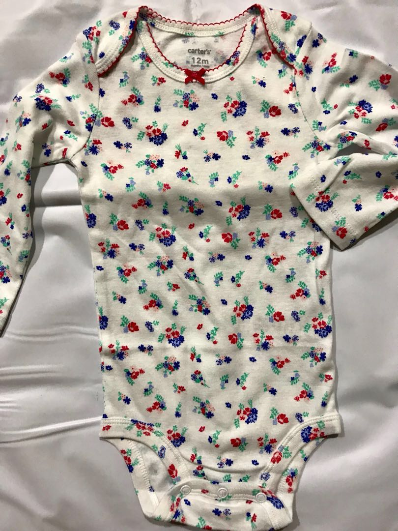9770623ef Carters flora baby long sleeves onesie / romper 12 mths, Babies ...
