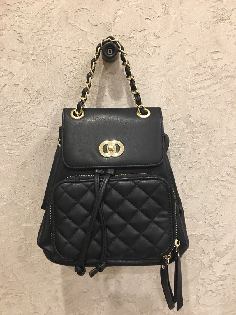 cb9ebf6350df Chanel inspired Backpack (Brand New), Luxury, Bags & Wallets, Backpacks on  Carousell
