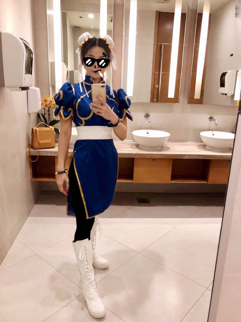 ffedaab54 Chunli Cosplay Full Set, Women's Fashion, Clothes, Others on Carousell
