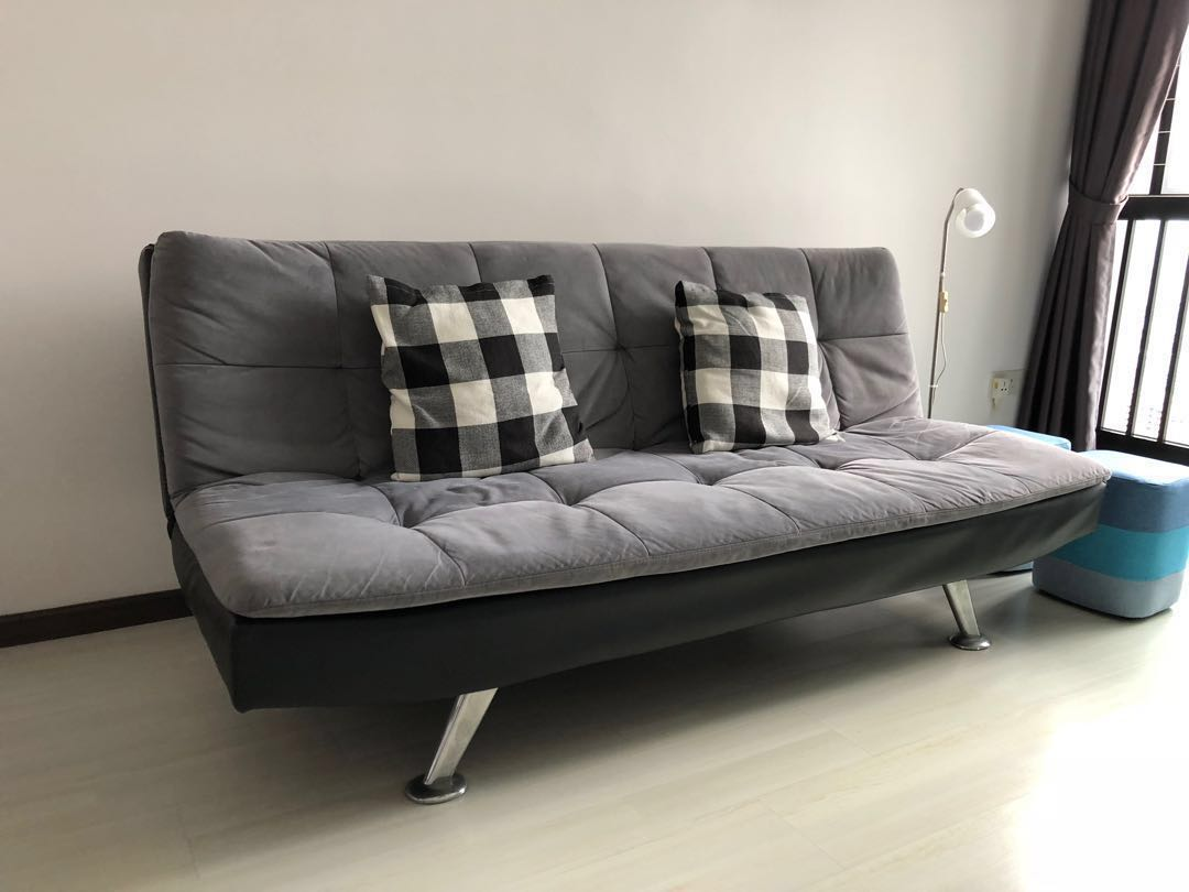 Comfy Stylish Almost New Sofa Bed Bottom Price Furniture Sofas