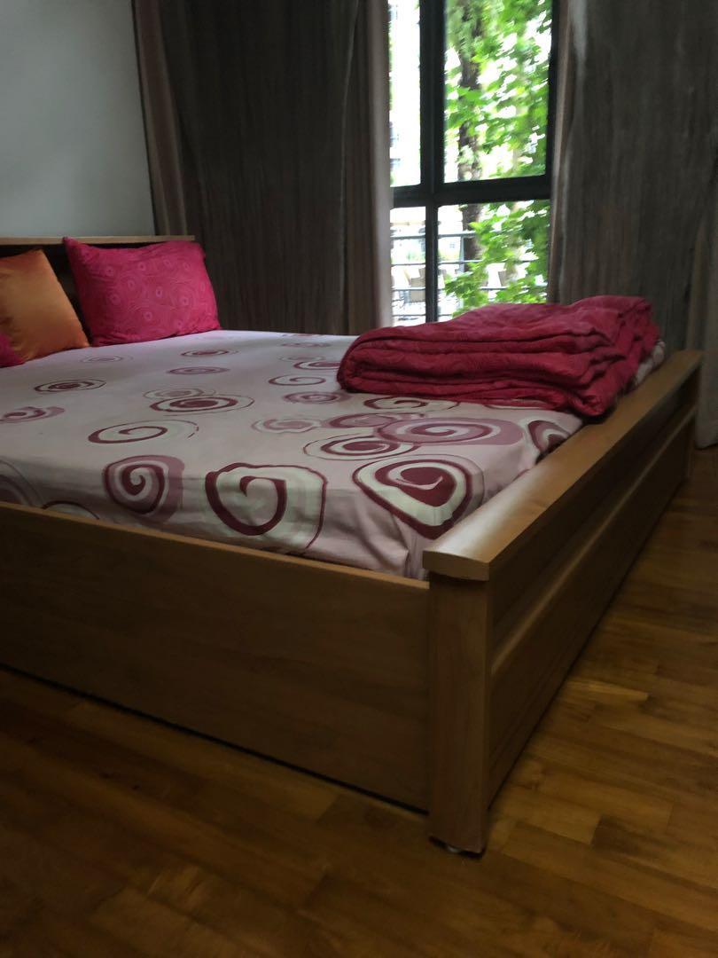Custom Made Wooden Storage Bed Frame Super King Furniture Beds