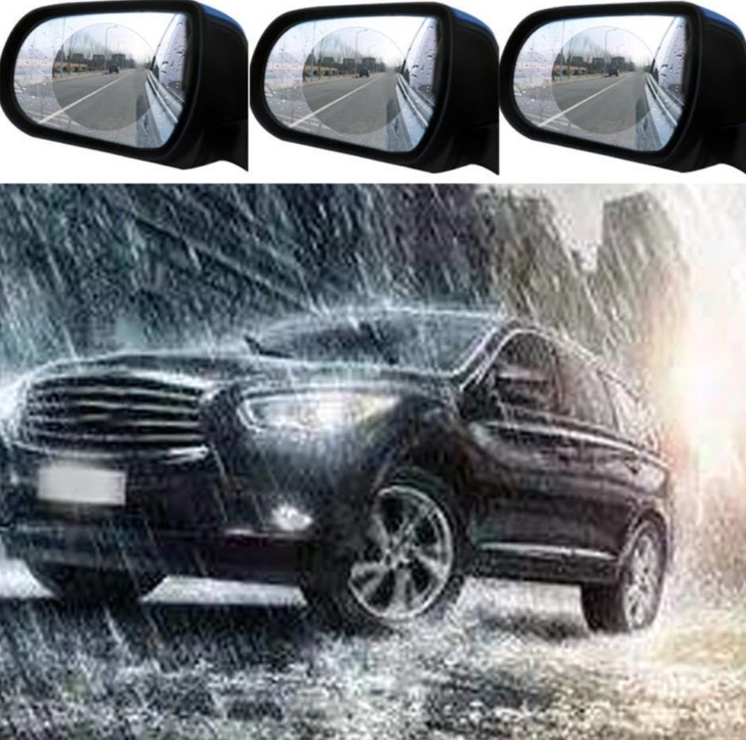 Diy 1 Set 2pcs Anti Fog Car Rearview Mirror Protective Films Anti