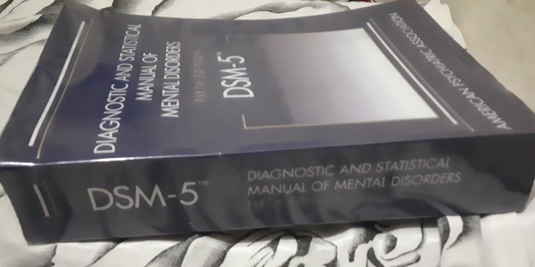 DSM 5/DSM V/DIAGNOSTIC STATISTICAL MANUAL OF MENTAL DISORDERS 5TH ED.