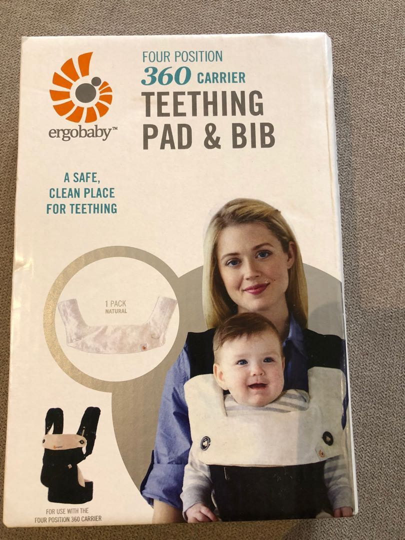 Ergobaby 360 teething pad & bib, Babies & Kids, Strollers, Bags & Carriers on Carousell