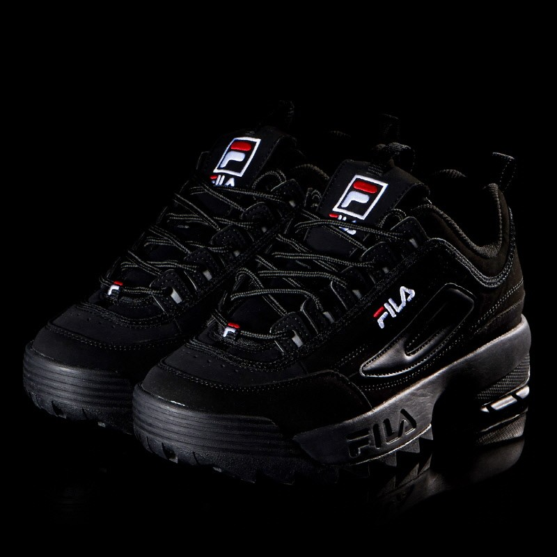 1dd2b8ed2f6 Fila Disruptor II Fb Triple Black Mens Sneakers Shoes Sizes 7-14 US  Clothing, Shoes & Accessories Sandals