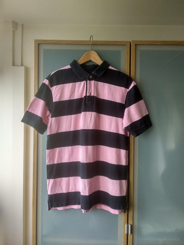 104c2de8 GAP Men's Striped Polo Tee, Men's Fashion, Clothes, Tops on Carousell