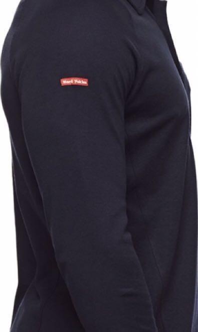 Hard Yakka Koolgear Vented Long Sleeve Polo - Navy- XL