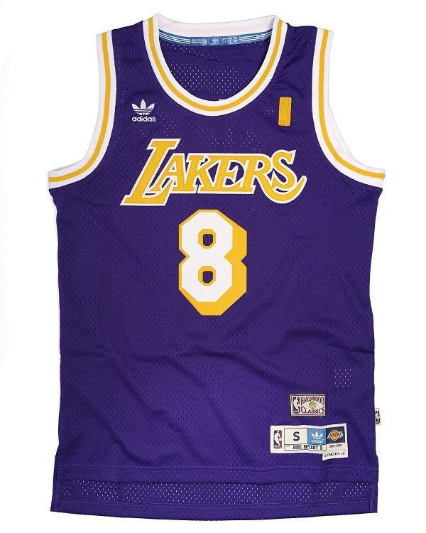c2229ad41062 Hardwood Classics  Adidas Los Angeles Lakers Kobe Bryant  8 Purple ...