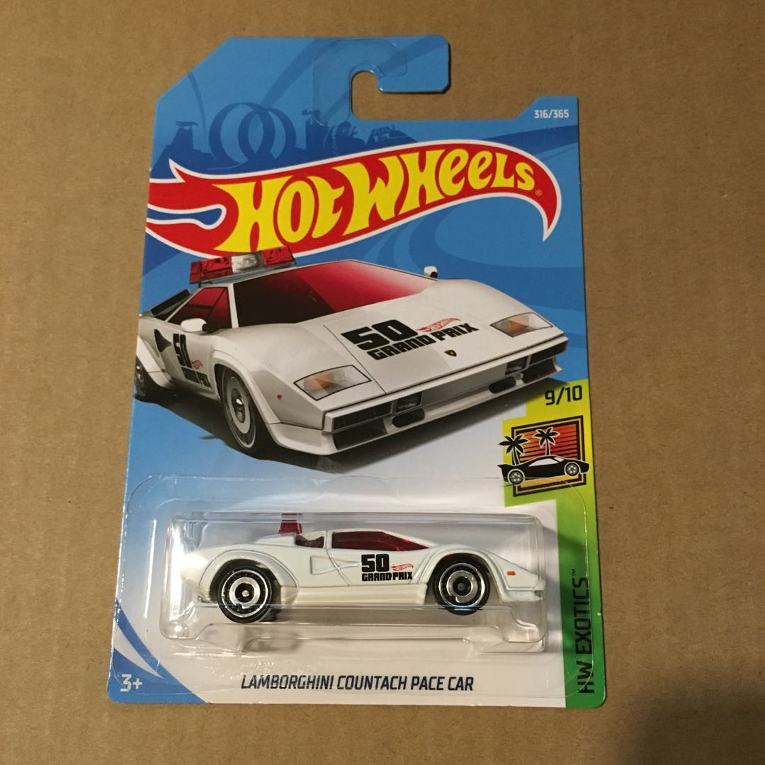 Hot Wheels Lamborghini Countach Pace Car White Toys Games Others