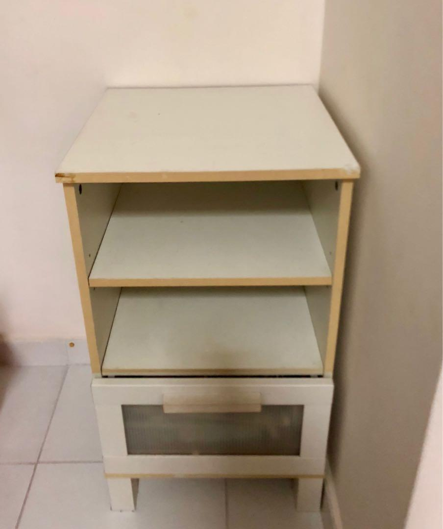 IKEA White Bedside Table