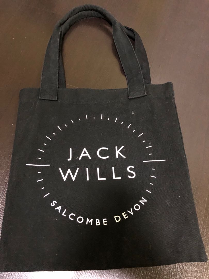 605d76fe18 Jack Wills Black Canvas Tote Bag Women S Fashion Bags Wallets
