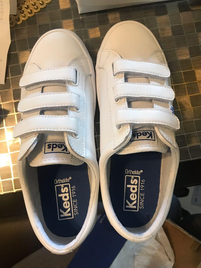 Keds tiebreak leather white shoes with