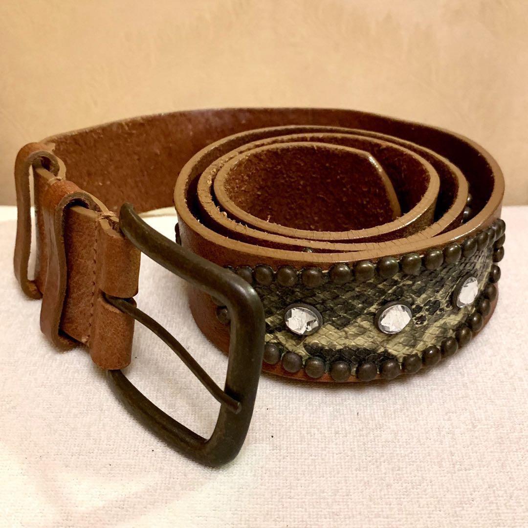 Leather Belt Special Design with stones 真皮皮帶