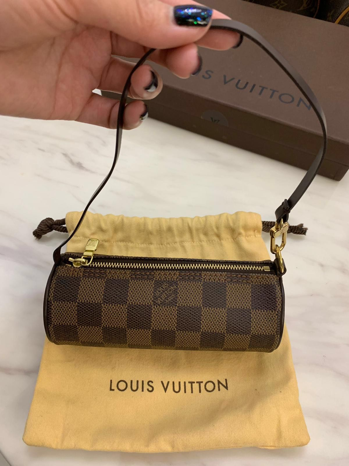 4f111a71a670 Louis Vuitton Papillon Mini Damier Ebene
