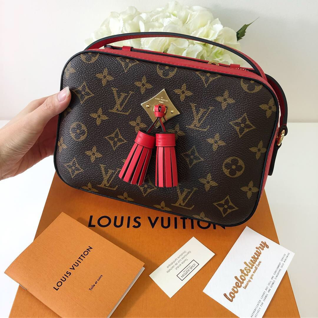 3d738519639 Louis Vuitton Saintonge Classic Monogram Coquelicot Red, Luxury, Bags    Wallets, Sling Bags on Carousell