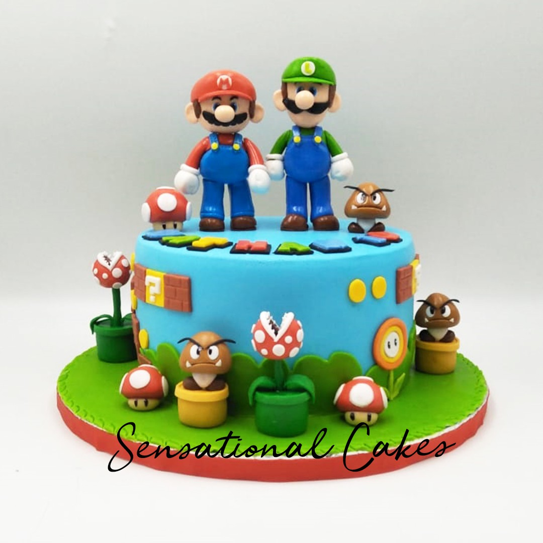 Mario Brothers Game Boy Children 3d Custom Birthday Cake