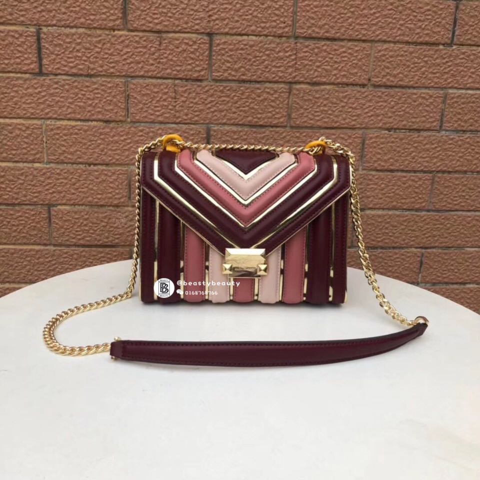 1d25e640ee6bf Michael Kors Whitney Large Quilted Tri-Color Convertible Shoulder ...