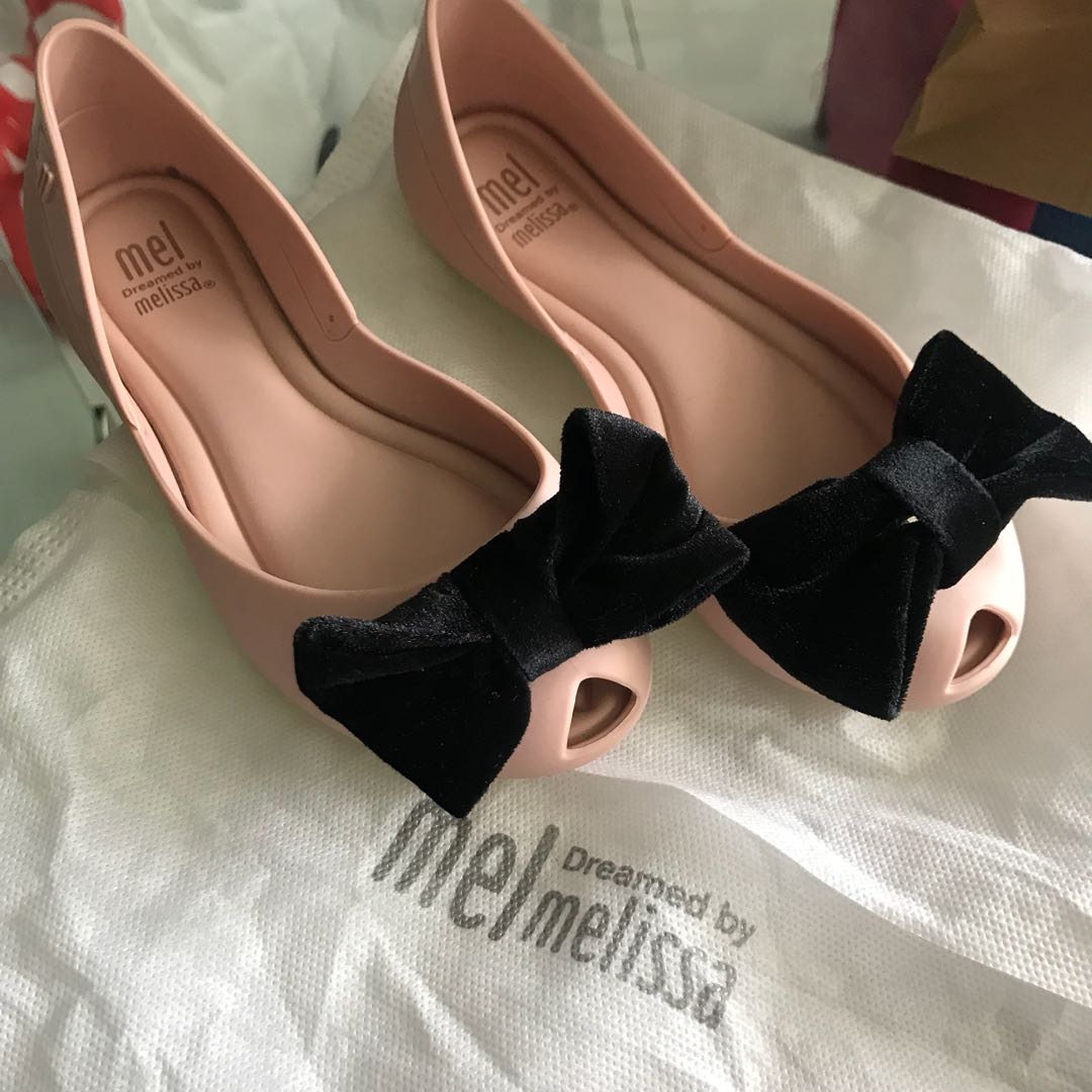 1c6ed79cc72 Mini Melissa baby pink with blank bow US12 girls