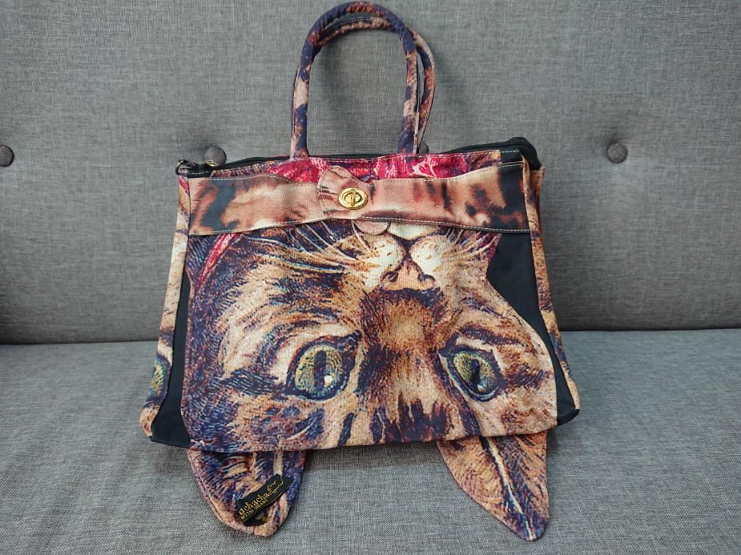 68f527c6b3b4 Muchacha Ahcahcum Cat tote bag
