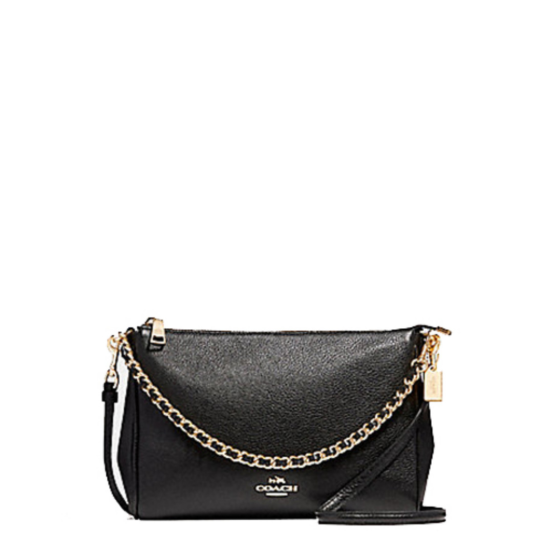 123616d6e5da NEW ARRIVAL Coach Carrie Crossbody In Pebble Leather Black, Luxury, Bags &  Wallets, Sling Bags on Carousell