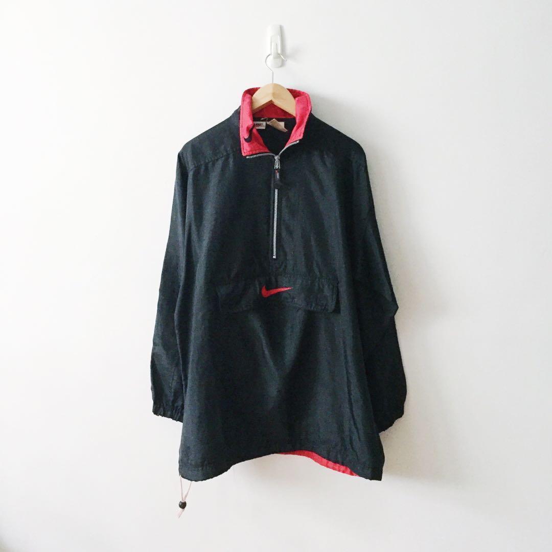 07c529051bd8 Nike Half Zip Front Big Pocket Windbreaker Jacket