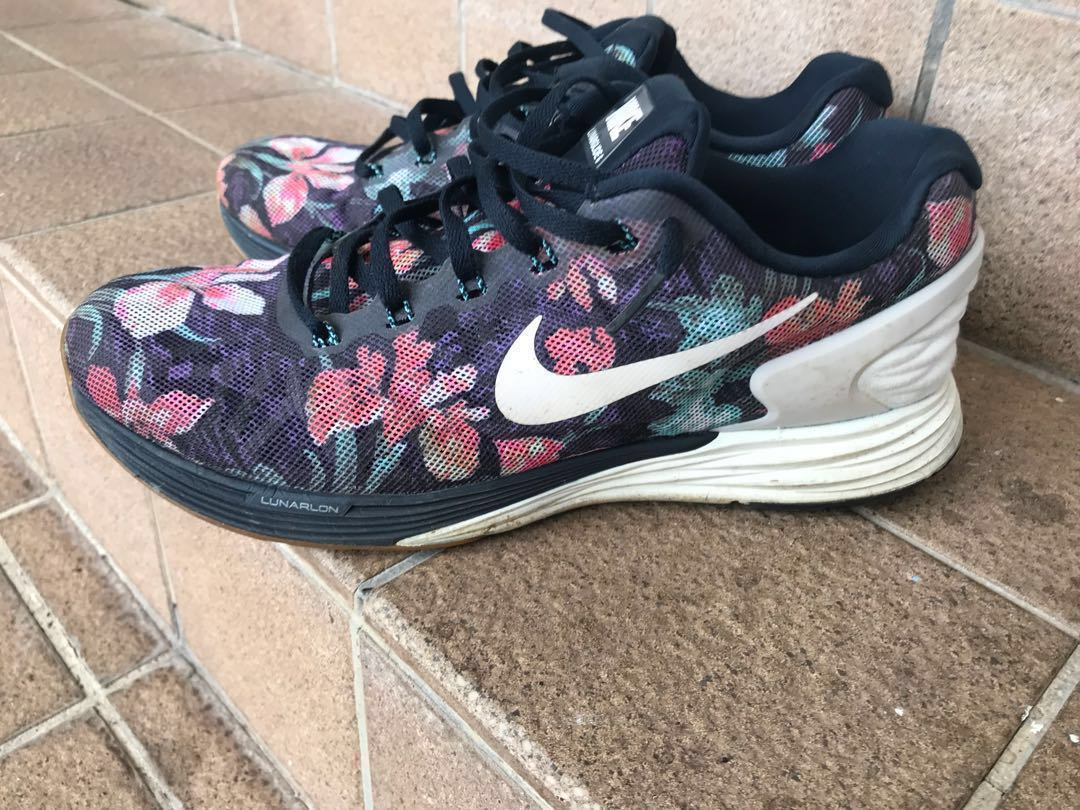 """new style 3f2c7 c542d Nike Lunarglide 6 Floral """"Photosynthesis"""", Men s Fashion, Footwear,  Sneakers on Carousell"""