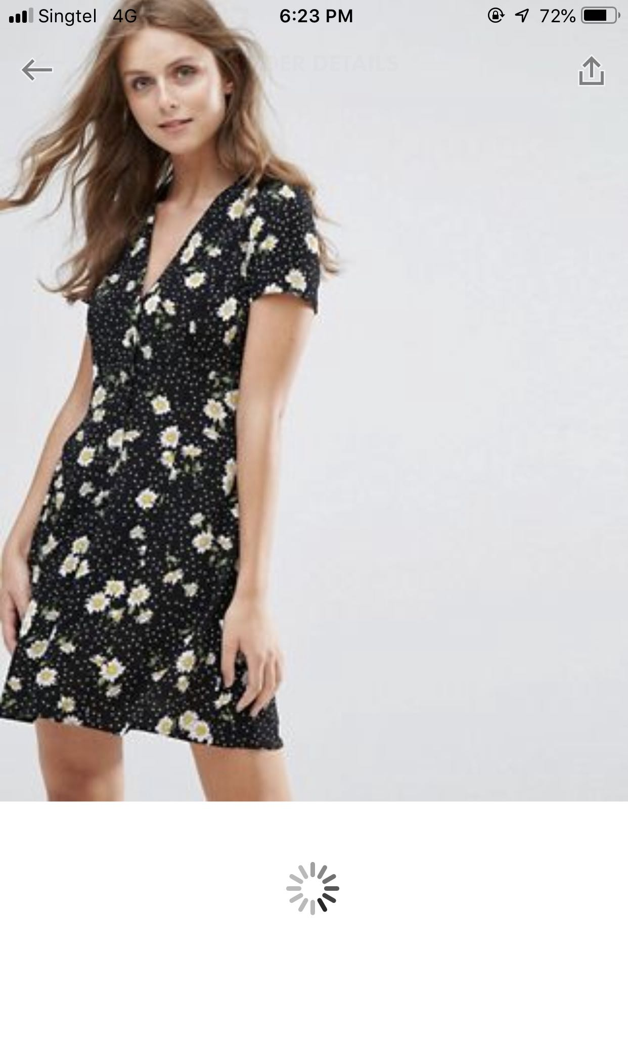 b31e8b9b101 Nobody s child Tea dress with button front in dark floral