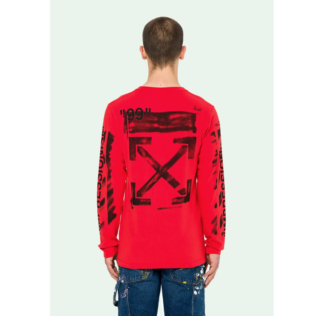 55bcdbd225f0 Off White 19SS Stencil Long Sleeve Tee