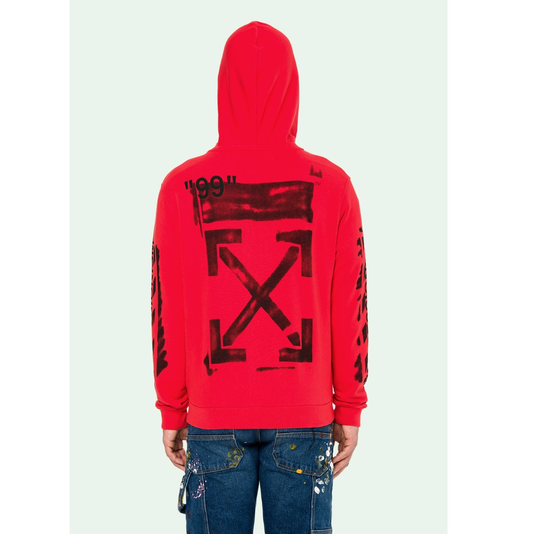 f9b26a8a3 Off White 19SS Stencil Zip Hoodie, Men's Fashion, Clothes, Tops on ...