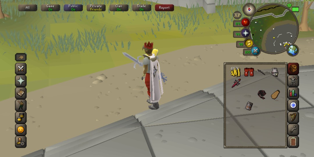 Old school runescape account with untrimmed prayer cape (cb
