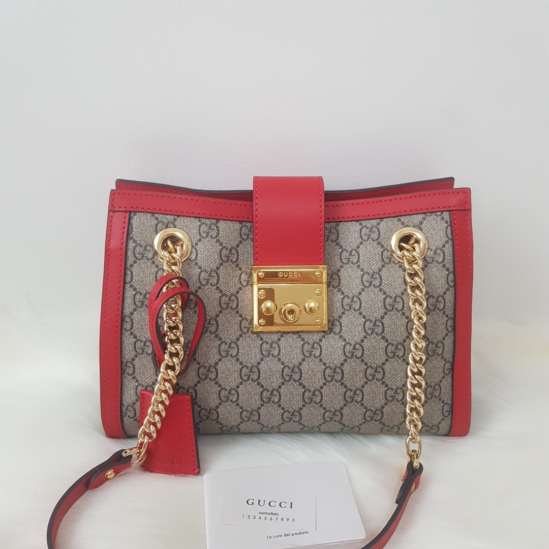 36340ad5831 ON HAND  Authentic Gucci Small Padlock GG Supreme Shoulder Bag ...