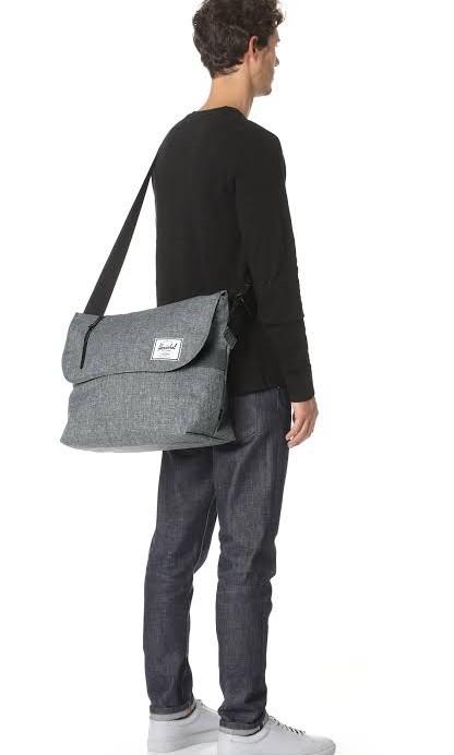 bd3019c5300f Original Herschel Odell Messenger Bag GREY