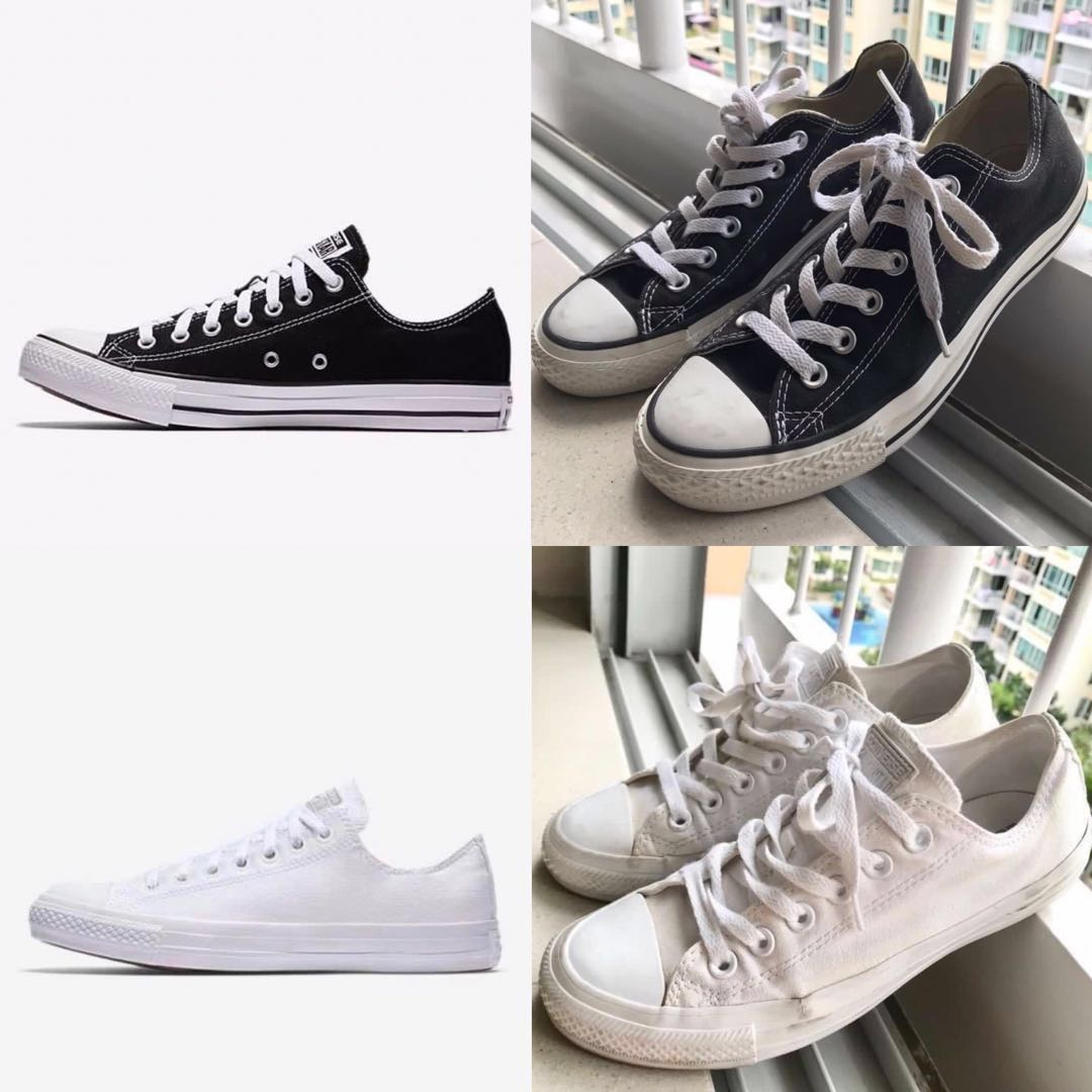 b609c011867e ️SALE 🌟 authentic black   white out all star converse shoes ...
