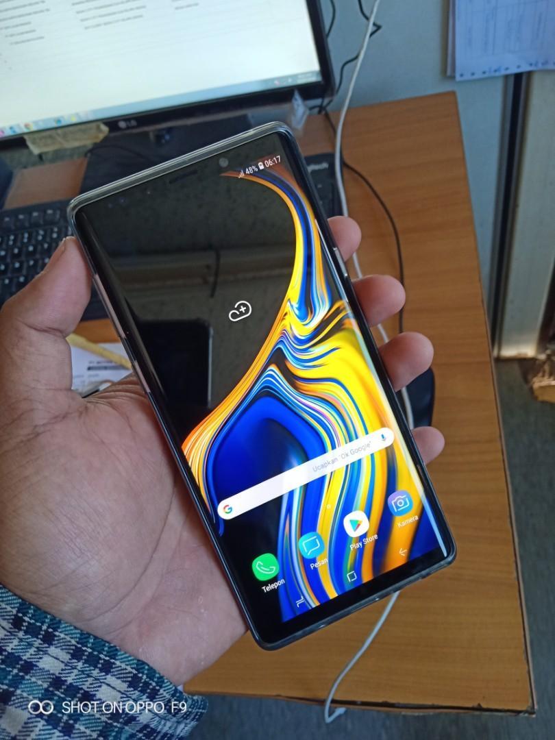 Samsung note 9 sein fullset baru pake sebulan