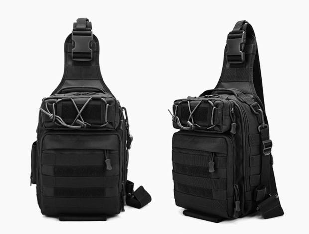 Tactical Sling Bag Chest Pack MOLLE Waterproof Crossbody Backpack ... d33362aefa59c
